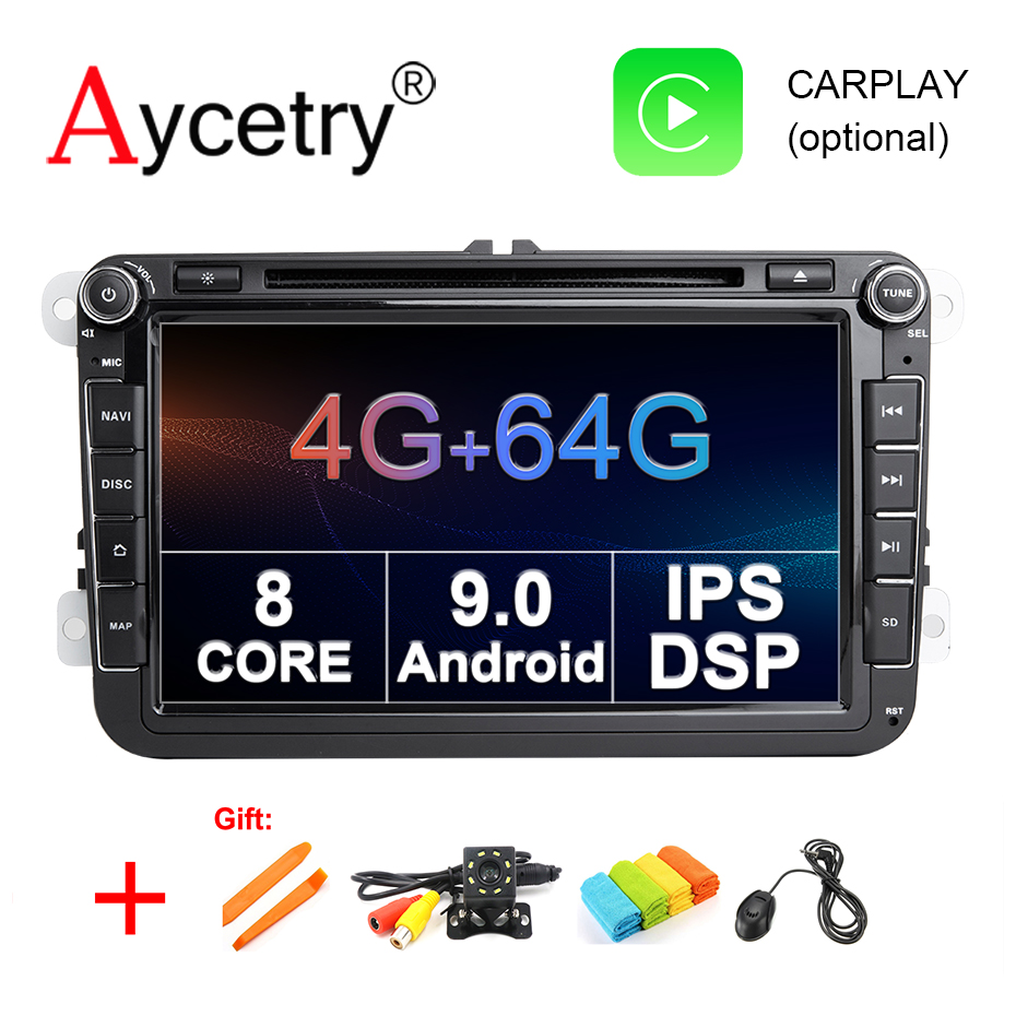4G 64G DSP IPS 2 din Android 9 0 car dvd multimedia player gps for VW