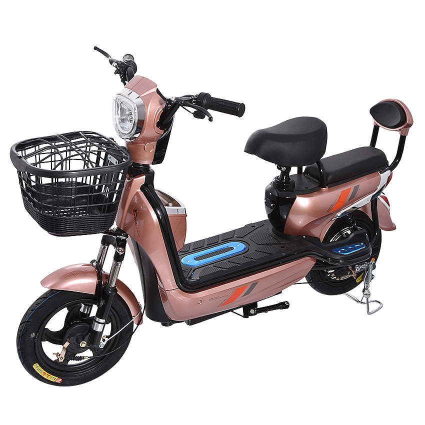 350W Motor Electric Bicycle Powerful Electric Bike With Front Basket Instead of Walking Two Wheel eBike For Adult 48V 12AH/20AH
