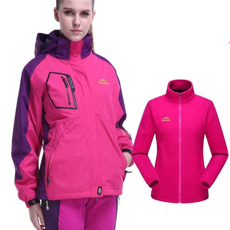Ski Jacket Women Waterproof Windproof Snow Skiing Snowboard Jackets Thermal Winter Jacket Women Outdoor Camping Hiking Jacket