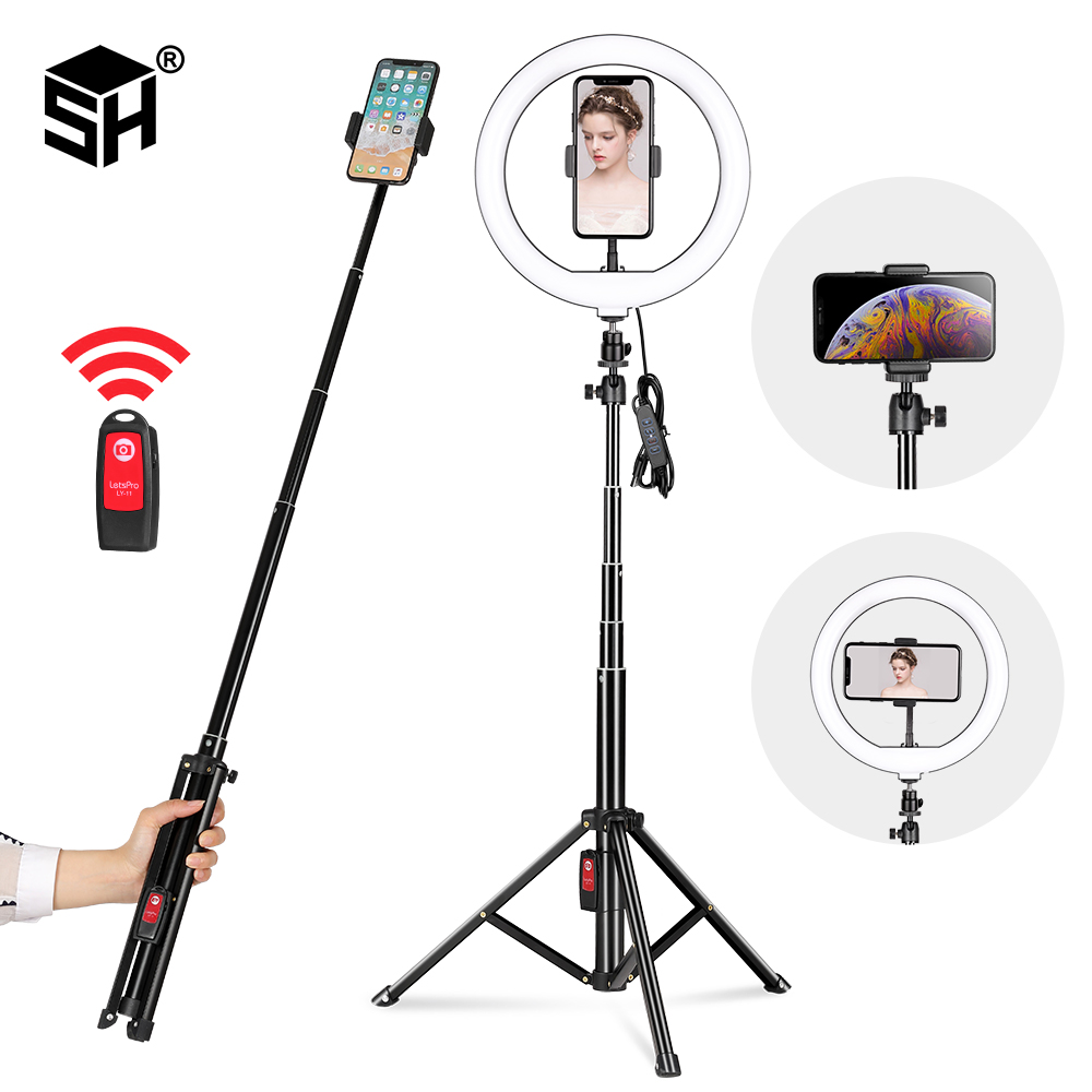 Ring Light Kit 13inch//33cm Outer 20w Dimmable Led 3200k//5500k with Light Stand Makeup Mirror for Camera Smartphone Self-Portrait Shooting
