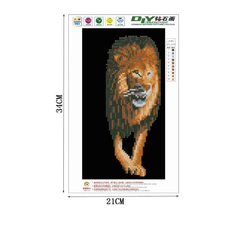 Fai da Te 5D Leone Animale Diamante Pittura Del Ricamo a Punto Croce Mestiere Complementi Arredo Casa Kit Q6PE