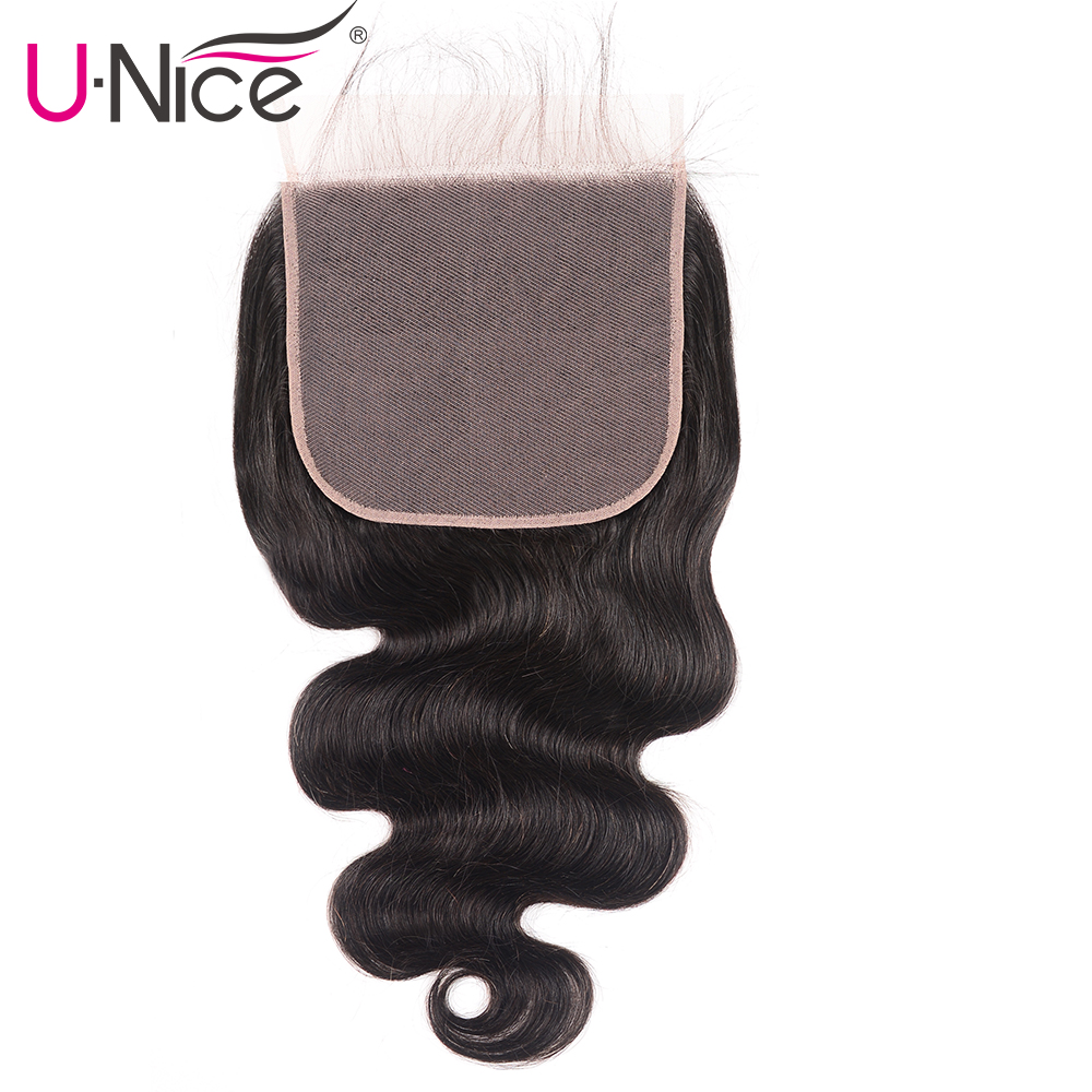 "Image 3 - Unice Hair Brazilian Body Wave 7""x7"" Closure Free Part Human Hair Lace Closure 10"" 18"" Swiss Lace Remy Hair Extension-in Closures from Hair Extensions & Wigs"