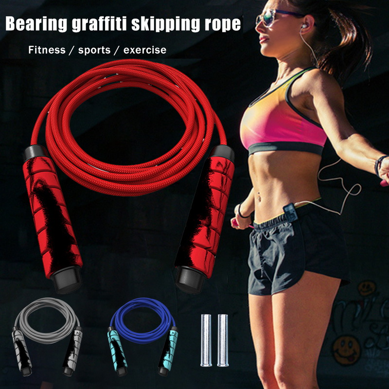 SFIT Heavy Adjustable Weighted <font><b>Skipping</b></font> Jump <font><b>Rope</b></font> -Bearing Fashion Cable Foam <font><b>Handle</b></font> for Home Gym Workouts image