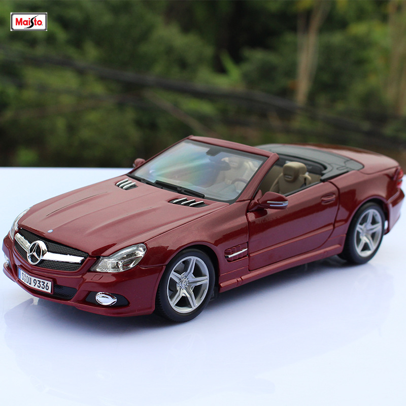 Maisto 1:18  Mercedes SL 550 car alloy car model simulation car decoration collection gift toy Die casting model boy toy