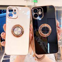Funda de silicona blanda a prueba de golpes para teléfono móvil iPhone, carcasa a prueba de golpes para iPhone 11 12 13 Pro Max XS X XR 7 8 Plus SE 2020
