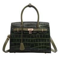 Luxury Totes Handbags Stone Pattern Women Shoulder Crossbody Bag Designer 2019 Leather Croco Ladies Large Handbag Sac A Main Red
