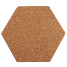 8/16/24 Pcs Self-Adhesive Cork Board Tiles Office Home Wood Photo Background Hexagon Stickers Wall Message Bulletin Boards