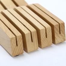 Бамбук в ящике 7 Слот блок, деревянный держатель Органайзер