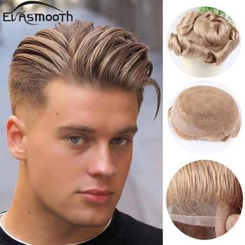 Q6 Men Toupee Natural Human Hair Wig