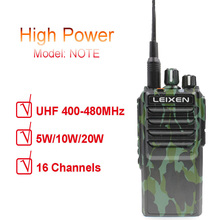 LEIXEN 참고 UHF 400 480MHz 20W FM 햄 양방향 라디오 워키 토키 Transeiver Interphone Camo