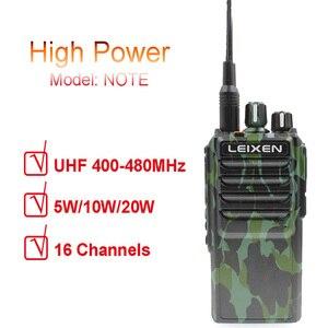 Image 1 - LEIXEN 참고 UHF 400 480MHz 20W FM 햄 양방향 라디오 워키 토키 Transeiver Interphone Camo