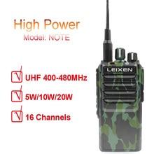 LEIXEN uwaga UHF 400 480MHz 20W FM Ham dwukierunkowe Radio Walkie Talkie Transeiver domofon Camo