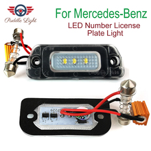 цена на 2Pcs LED License Plate Light Bulb No Error Canbus For Mercedes Benz AMG X164 W163 W164 W251 ML GL R 320 350 450 500 550 63