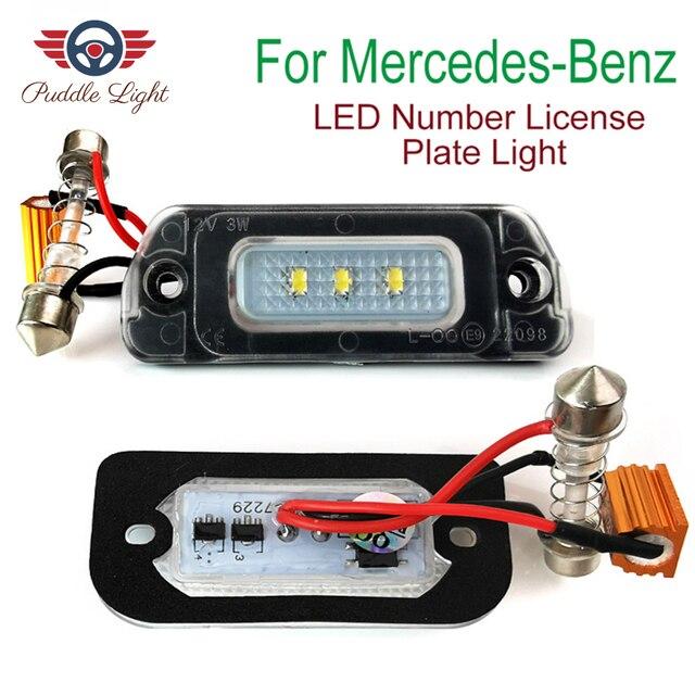 $ 9.52 2Pcs LED License Plate Light Bulb No Error Canbus For Mercedes Benz AMG X164 W163 W164 W251 ML GL R 320 350 450 500 550 63