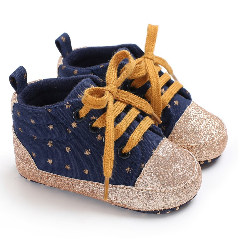 Sneakers Baby Boys Girls Shoes Casual Anti-slip Toddler Soft Sole First Walkers Walking Lace-Up Crib Bebe Shoes