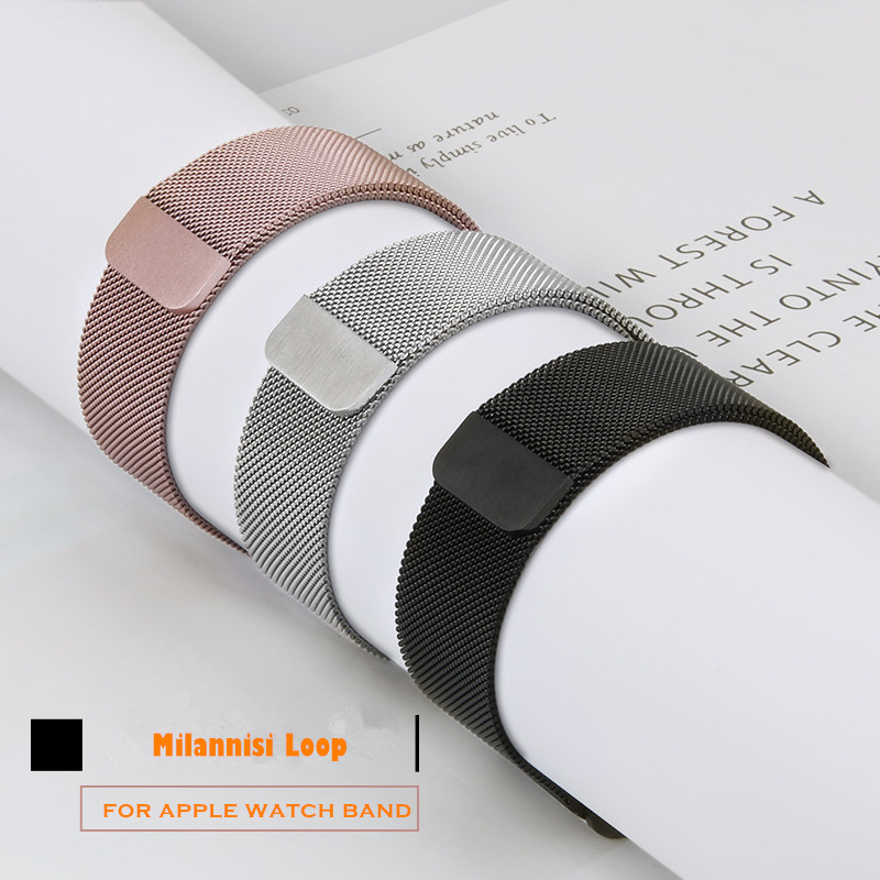 Milanese Loop Replacement Bracelet For Apple Watch Band 4 5 44/40mm Stainless Steel Strap Wristband For Iwatch Series 3 38/42mm
