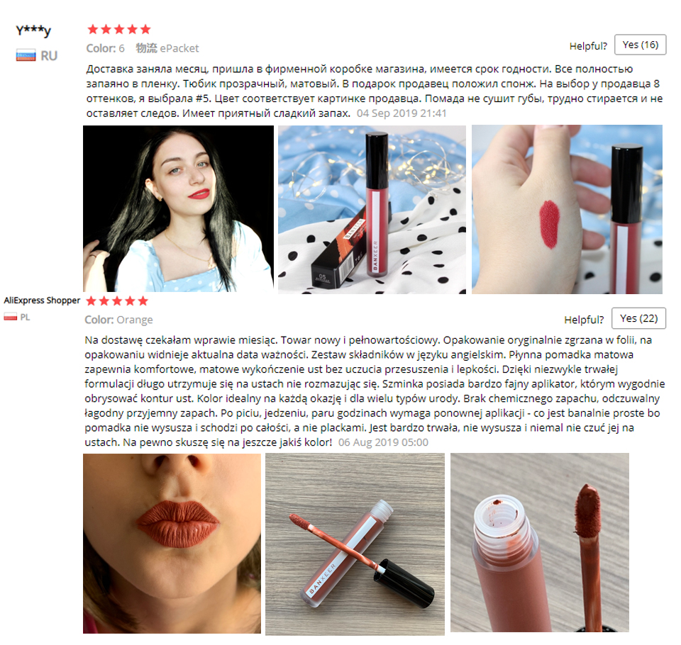 Image 5 - BANXEER Lipgloss Matte 8 Colors Lip Gloss Velvety Lipstick Liquid Matte Waterproof Lip Tint Full & rich Sexy Lip Makeup Cosmetic-in Lip Gloss from Beauty & Health