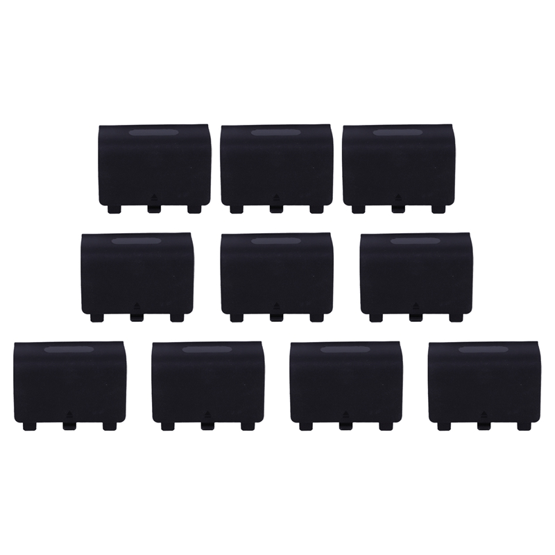 10 Pcs Battery Back Cover Door Shell Case for  Controller Black|Button Cell Batteries| |  - title=