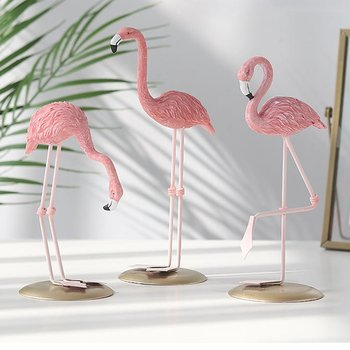 Lovely Cute Flamingo Design Resin Home Decorations Christmas Gifts Ornaments Table Desk Decoration For Home Bedroom