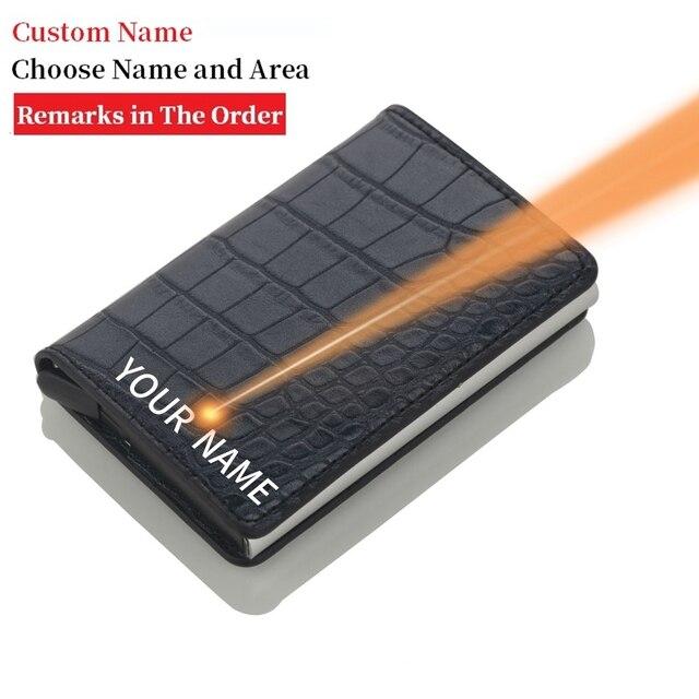 Rfid Blocking Credit Card Holder Men Wallets Slim Thin Business Leather Metal Cardholder Pocket Case Magic Smart Wallet 1