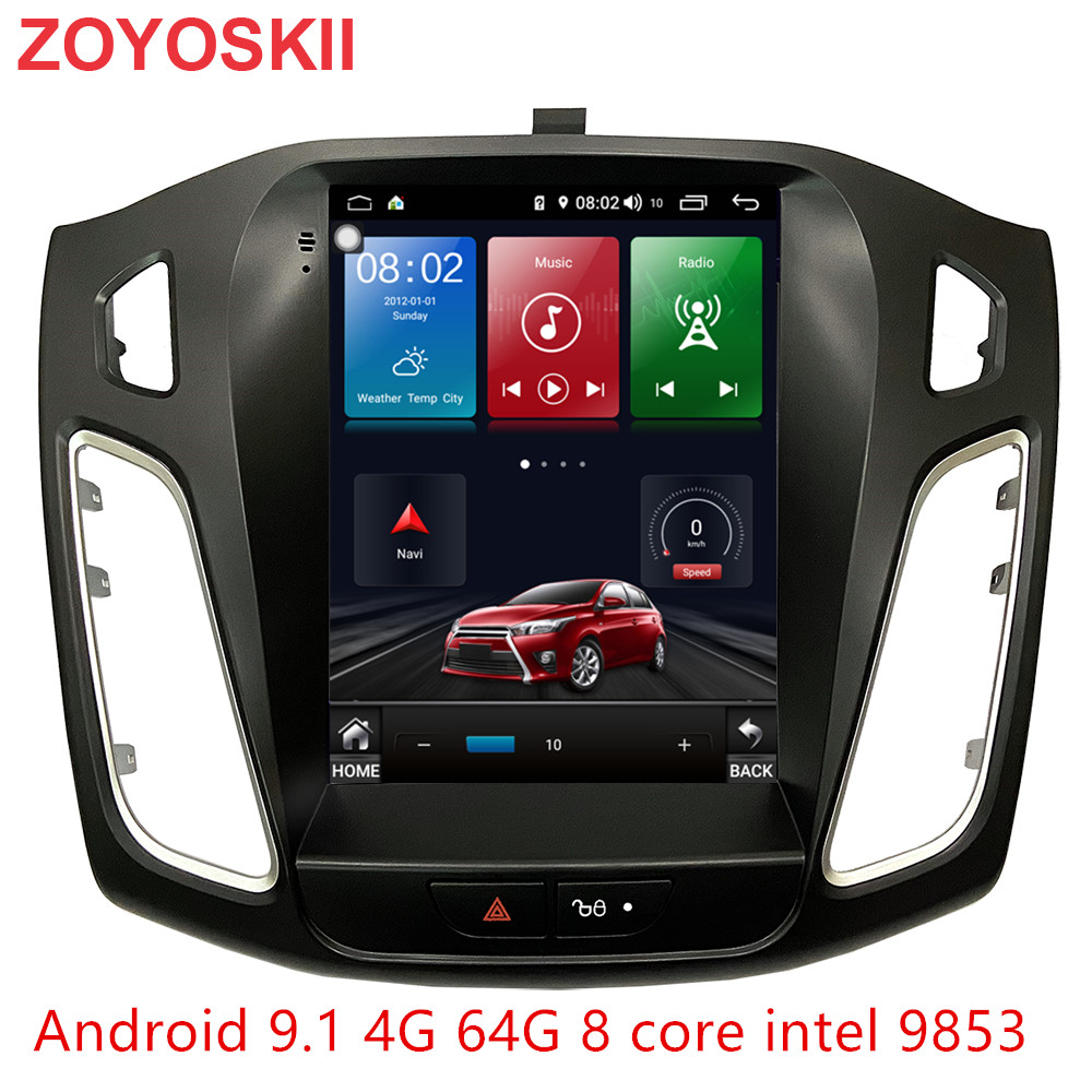 Android 9.0 OS 10.4 Inch IPS Vertical Screen Car Gps Multimedia Radio Bt Navigation Player For Ford Focus Salon 2012-2018