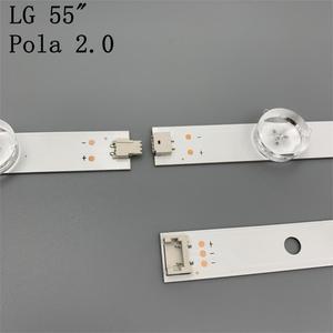 """Image 3 - 12 Lamps LED Backlight Strip For LG 55LA616V 55LA6200 55LA6205 55LA6208 55LA620S  ZA UA Bar Kit Television LED Band Pola 2.0 55"""""""