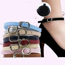 Menina cadarços moda feminina pacote cadarços para salto alto anti-skid invisível tornozelo ajustável sapatos cinto sapatos acessórios