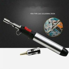 HT-1937 Flame Butane Gas Soldering Iron 12ML Filling Capacity Pen Torch Tool for Welding Soldering new top gas torch welding soldering iron little torch soldering with 5 weld tips