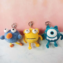 mike monsters 1 Pcs Cute Monsters Figure Led Keychain Mike Wazowski Big Eyes Figure Keyring Toy Gift For Children Light-Up Toys