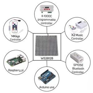 Image 5 - 1 pcsDC5V 16x16 12 dot matrix RGB soft screen Pixel WS2812B LED Digital Flexible Individually addressable Panel light H3 007