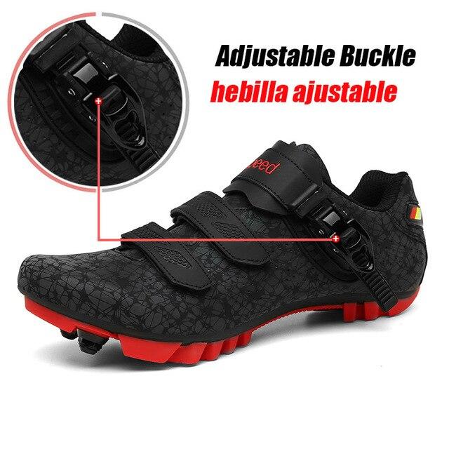 Sapatos de Bicicleta de montanha Ciclismo Tênis Slef-bloqueio Luminosa Bicicleta de Estrada MTB Shoes Men Respirável Sapatos Mulheres Correndo Ciclismo Sapato 4