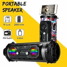 Portable Bluetooth Speaker Hifi Music LED Light Outdoor Spea