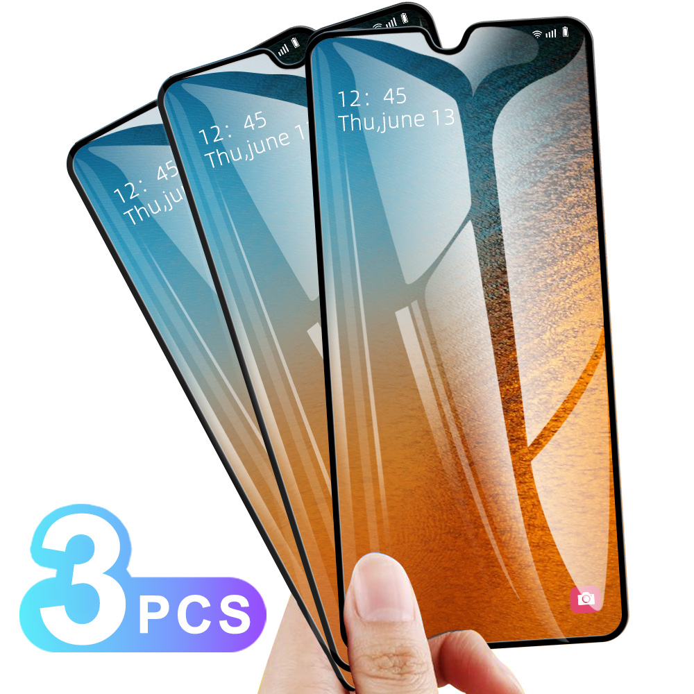 3PCS Glass For Samsung A50 A70 A40 A20 20S A10 10S A30 A60 Full Cover Tempered Glass For Samsung A50S M40 M30 M20 A30S 40S A90