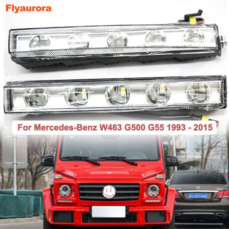 Car LED Daytime Running Lights DRL Fog Light Fit For <font><b>Mercedes</b></font> Benz W203 <font><b>W210</b></font> W211 W204 A C E S CLS CLK CLA GLK ML SLK GL450 X164 image