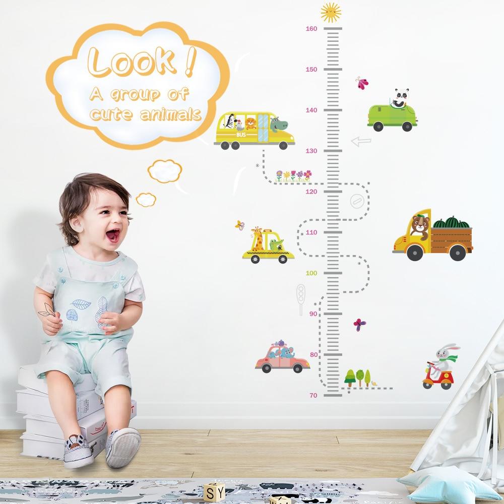 DICOR Cartoon Height Measure Wall Sticker For Kids Rooms Growth Chart Nursery Room Decor Kids Room Stickers Wall Decor Sticker
