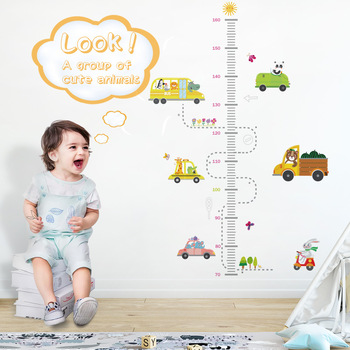 DICOR Cartoon Height Measure Wall Sticker for Kids Rooms Growth Chart Nursery Room Decor Stickers