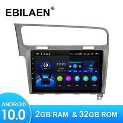 Автомобильный радиоприемник, мультимедийный плеер для VW Volkswagen Golf 7 2013-2019, Android 10,0, Авторадио с GPS-навигацией, видеорегистратором, камерой, Wi-Fi, ...