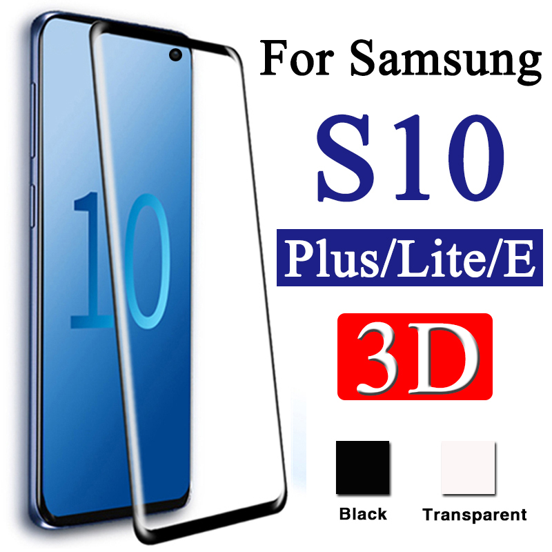 3D Protective glass on for Samsung s10 plus s10e tempered glas galaxy s 10plus 10e tremp samsun samsum galax s10lite cam armor