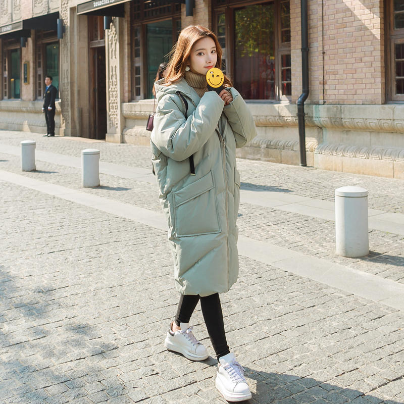 Пуховая куртка с хлопковой подкладкой для женщин размера плюс, Зимняя женская куртка с капюшоном, женские зимние пальто, парки, плотное теплое пальто для женщин C5950 - 6