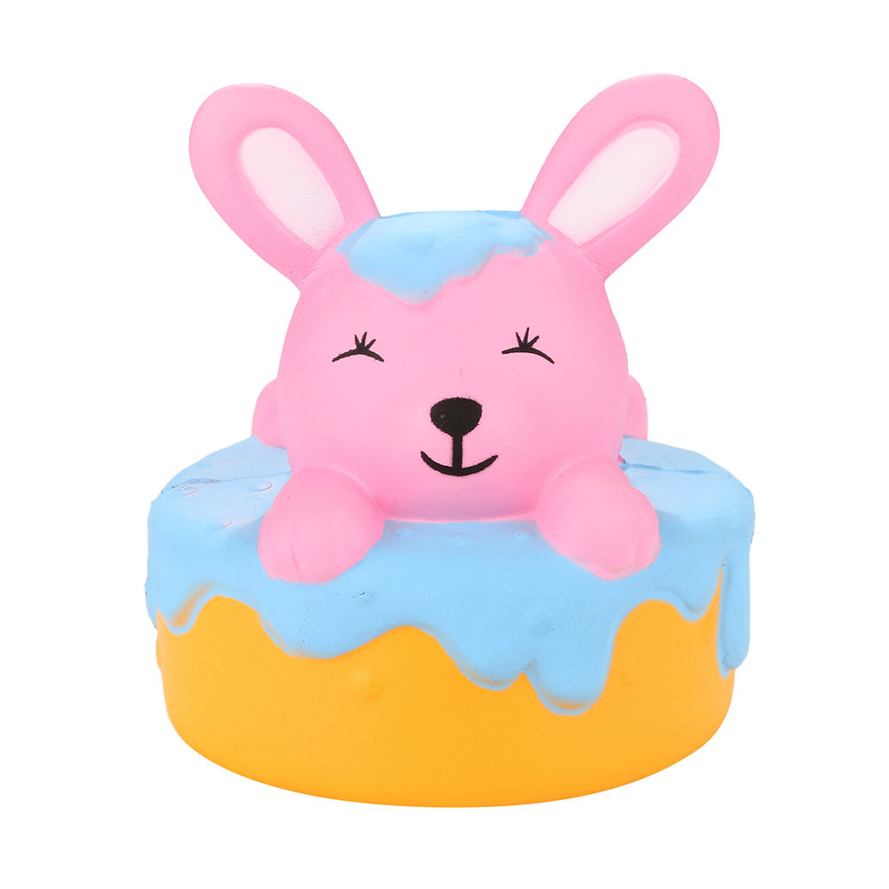 Adorable Cartoon Rabbit Slow Pressure Rising Squeeze Cure Toy Decompression Stress Soft Fun Toys Girl Toys Gifts #B