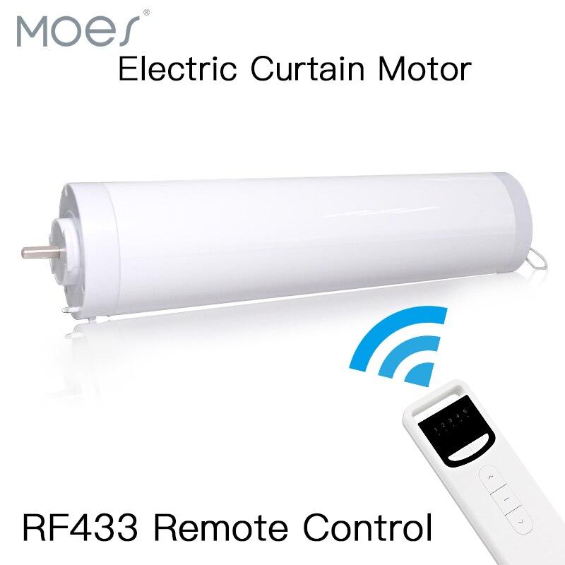 Motor de cortina elétrica automática aberto fechado windows motorizado 433 mhz controle remoto para casa inteligente 5 fios