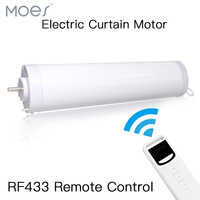 Automatic Electric Curtain Motor Open Closed Windows Motorized Motor 433MHZ Remote Control for Smart Home 5 Wires