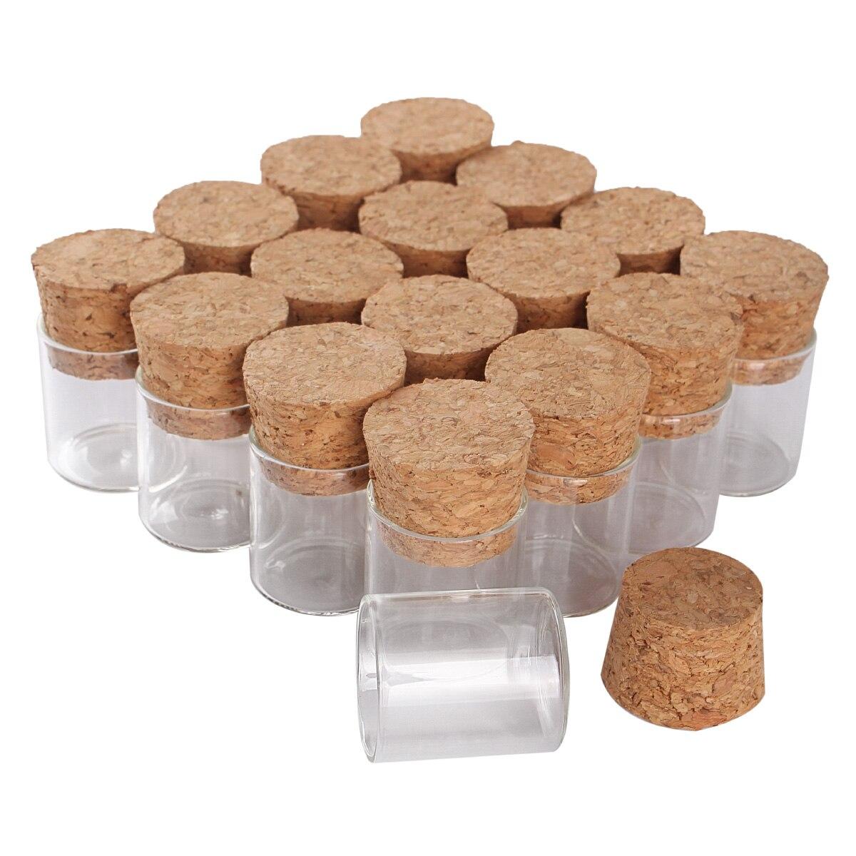 Flacons en verre avec liège | Mini Tubes en verre de 4ml 22*25mm pour le bricolage, accessoire dartisanat 100 pièces