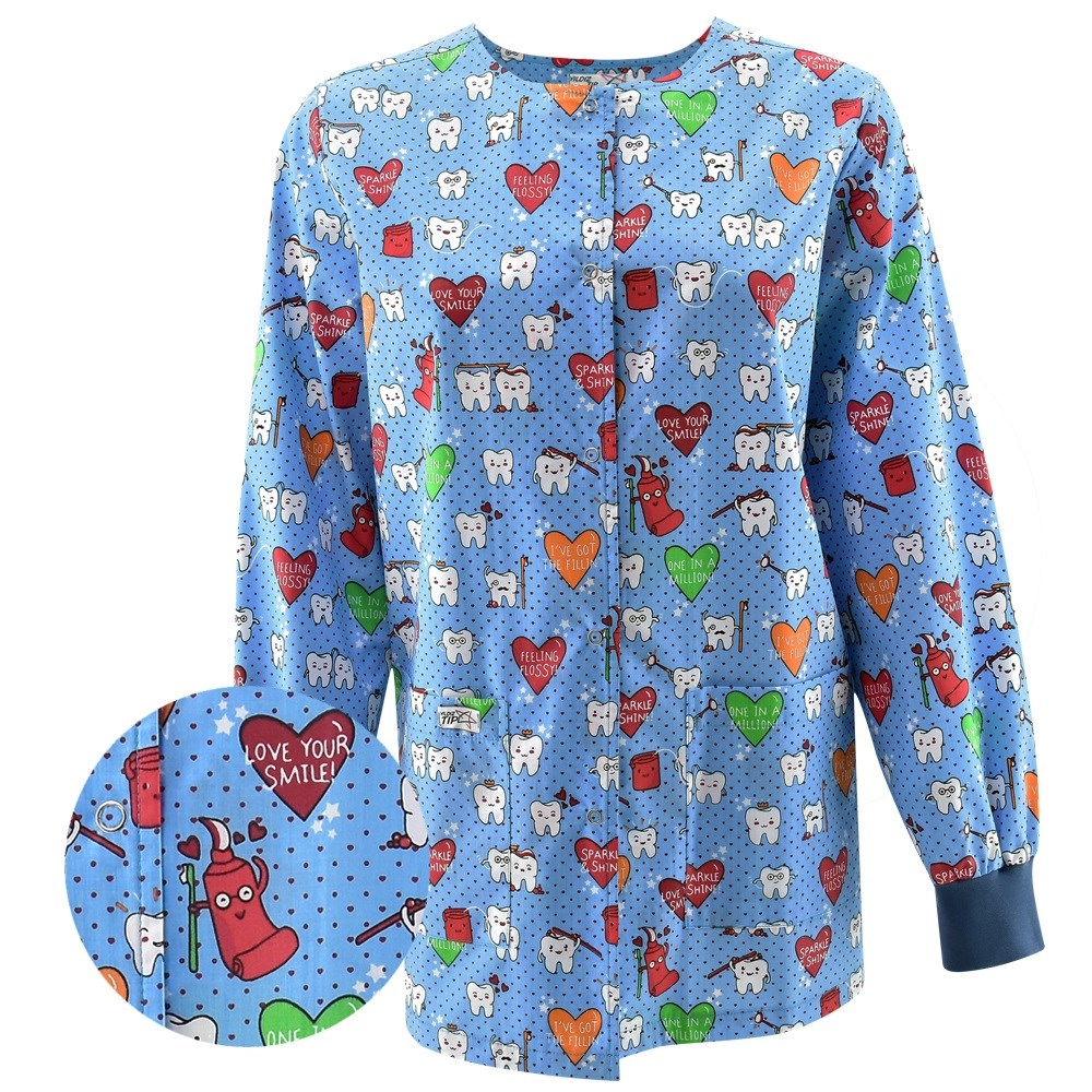 Medical Printed Scrub Tops Jacket Dental Clinic Beauty Salon Pet Doctor Hospital Outdoor Jackets Clothes Lab Coat