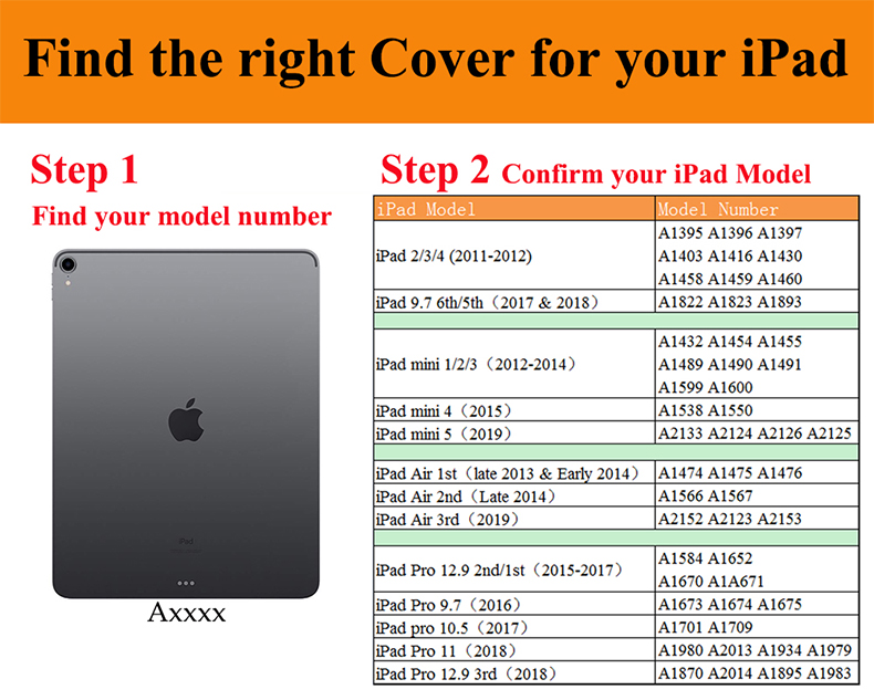Qijun-Case Auto-Sleep Smart-Cover for PU A2428/A2429/Pc/.. iPad Gen Fundas 8th Apple