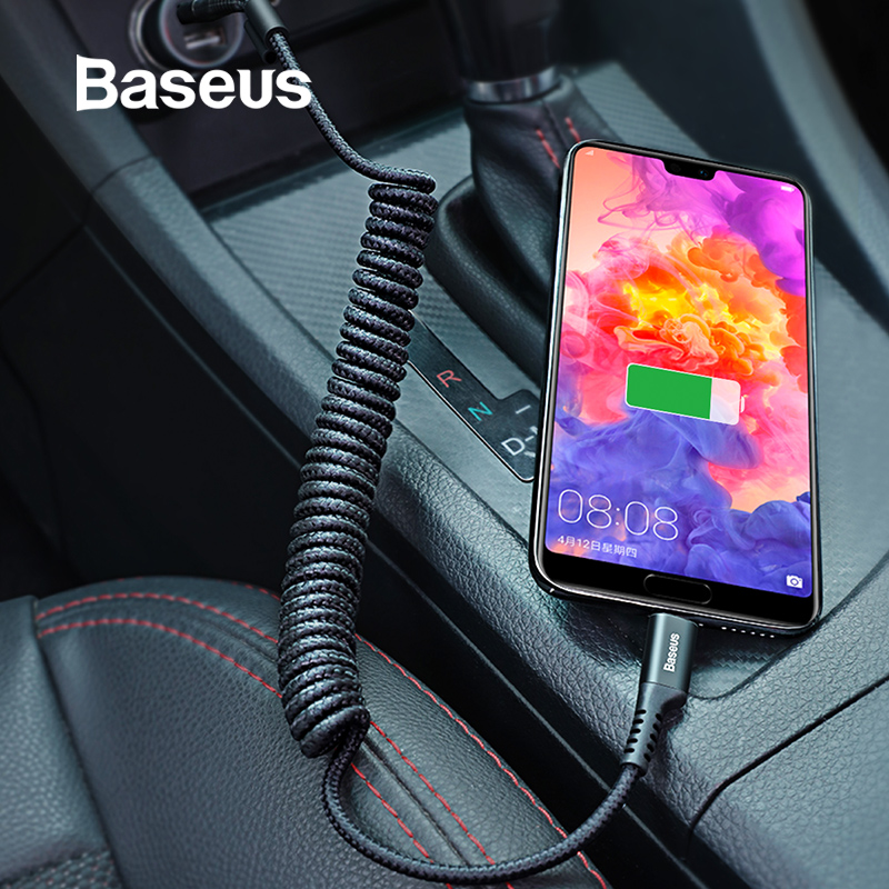 Baseus Flexible USB Type C Cable for Samsung Galaxy S9 Plus 2A Fast Charging Data Cable Nylon Braided USB C Cable for Huawei P20-in Mobile Phone Cables from Cellphones & Telecommunications on AliExpress