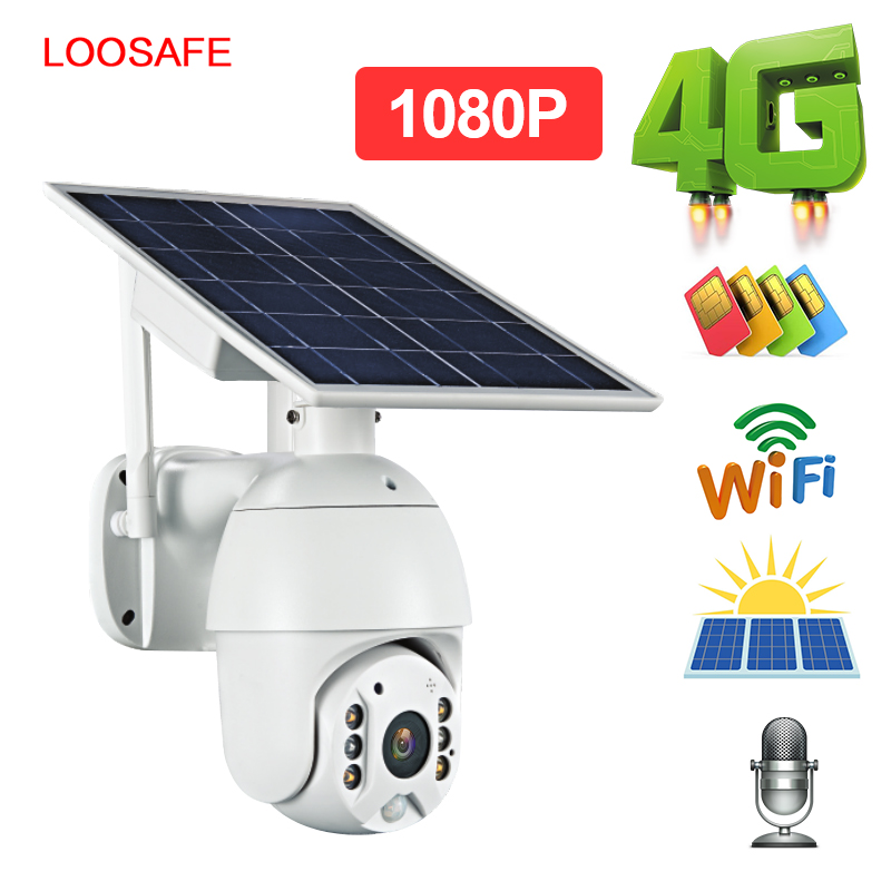 HD IP Camera 3G 4G  Shell Solar Security Camera  Outdoor Indoor Security With Solar Pane