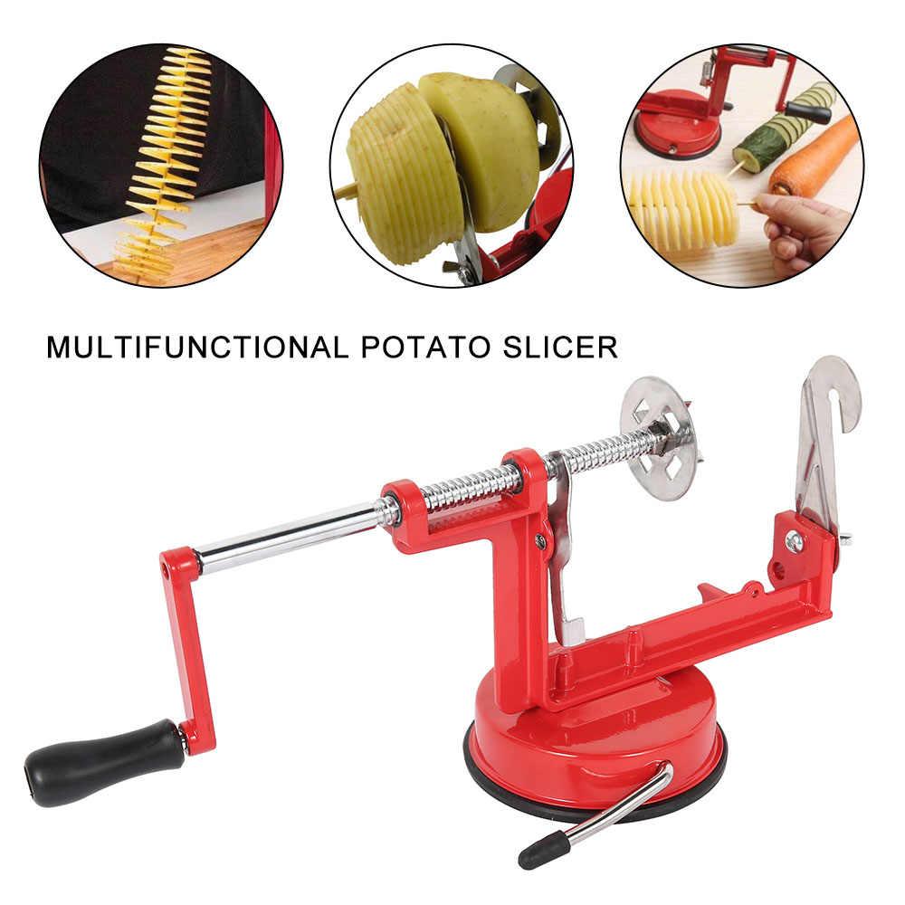 Многофункциональный резак для картофеля ручной спиральный резак для картофеля огурец Торнадо твистер резак для овощей Фруктовые чипсы инструмент для изготовления