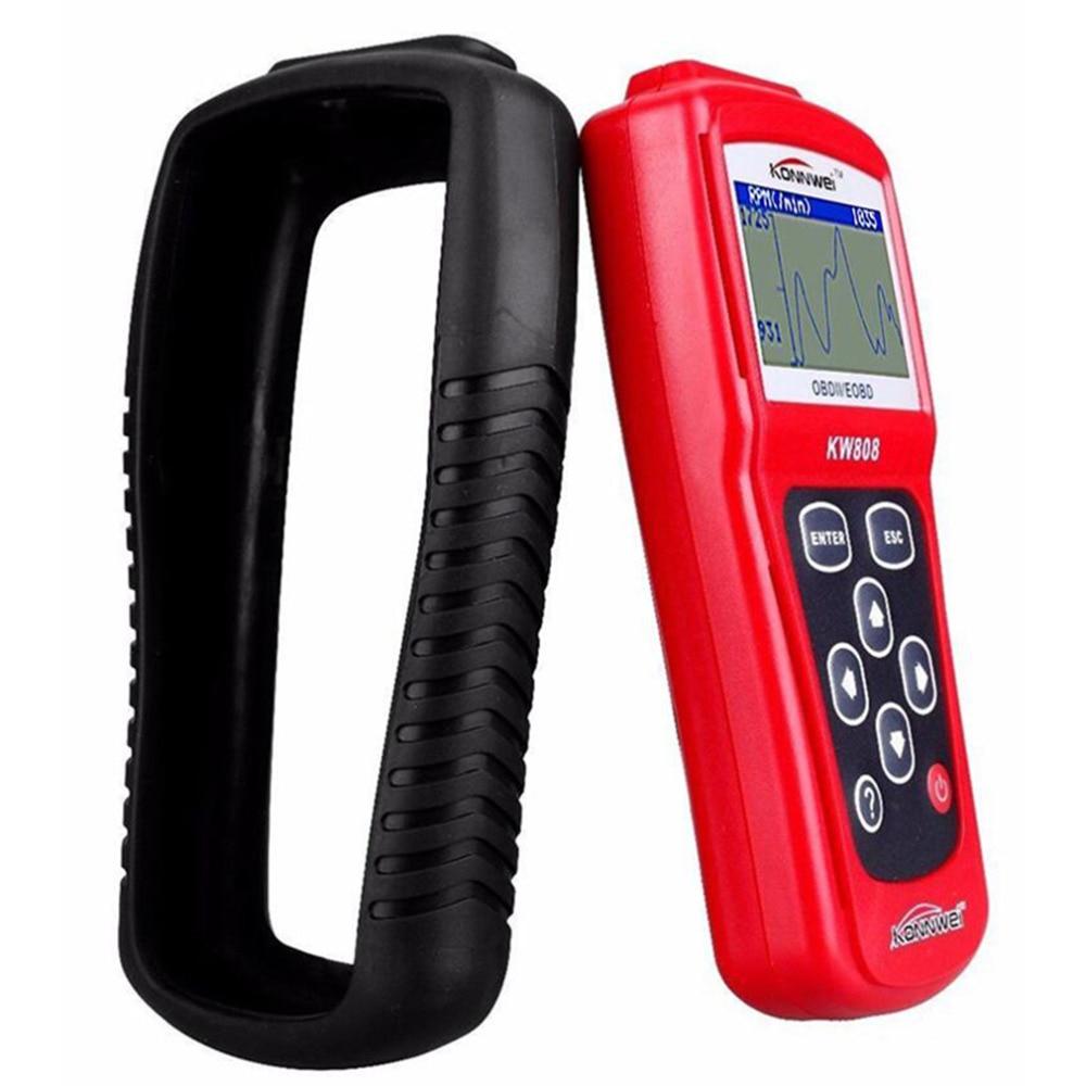 Новый автомобильный диагностический инструмент autel OBD сканирующий инструмент OBD2 сканер считыватель кода сканер KW808 горячая распродажа