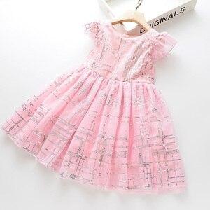 Image 4 - LOVE MM DD & vestidos para niñas, novedad de verano, ropa para niños, vestido de princesa sencillo con degradado de malla de lentejuelas sin mangas, 2020